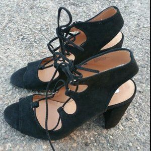 NEW Steve Madden Sz 10 Sandal Black Heel Suede